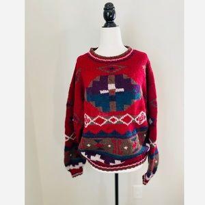 Vintage RARE L.L. Bean Tribal Sweater Wool sweater